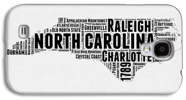 North Carolina Word Cloud Map 2 Galaxy S4 Case by Naxart Studio