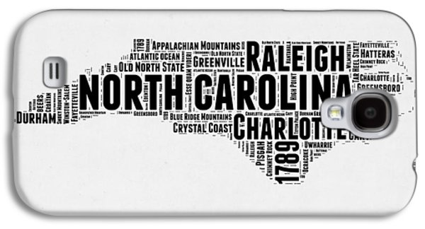 North Carolina Word Cloud Map 2 Galaxy S4 Case by Naxart Studio