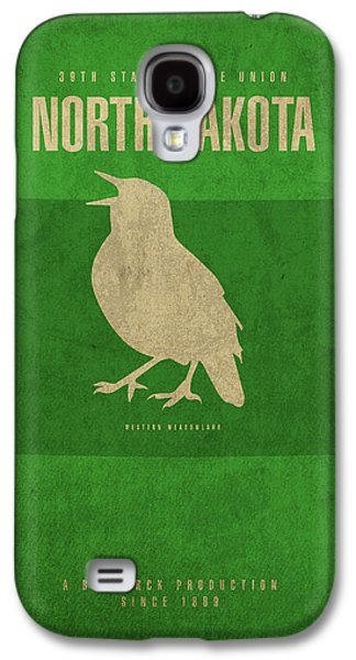 North Dakota State Facts Minimalist Movie Poster Art Galaxy S4 Case by Design Turnpike