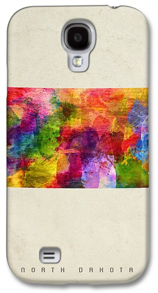 North Dakota State Map 02 Galaxy S4 Case by Aged Pixel