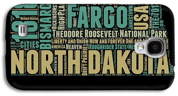 North Dakota Word Cloud 1 Galaxy S4 Case by Naxart Studio