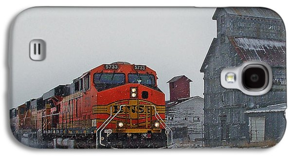Train Galaxy S4 Case - Northbound Winter Coal Drag by Ken Smith