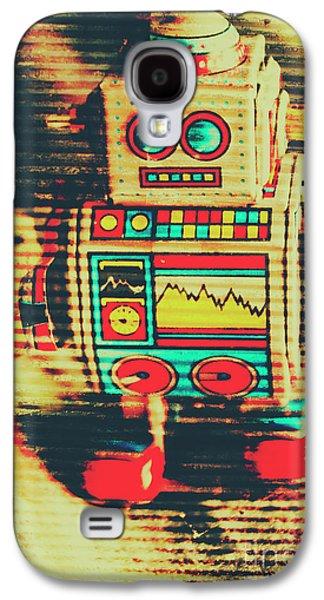 Nostalgic Tin Sign Robot Galaxy S4 Case by Jorgo Photography - Wall Art Gallery