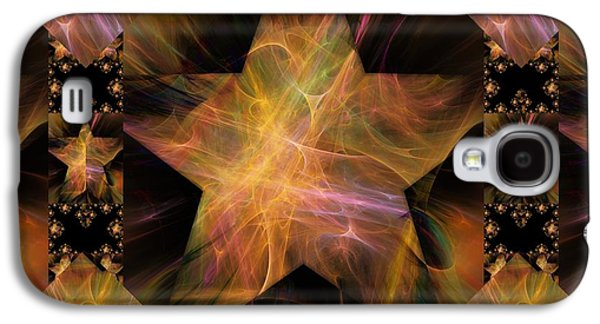 Not So Black Star / Tessellated Galaxy S4 Case by Elizabeth McTaggart