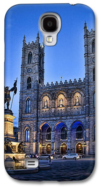 Notre Dame Basilica In Montreal As Dusk Galaxy S4 Case by David Smith