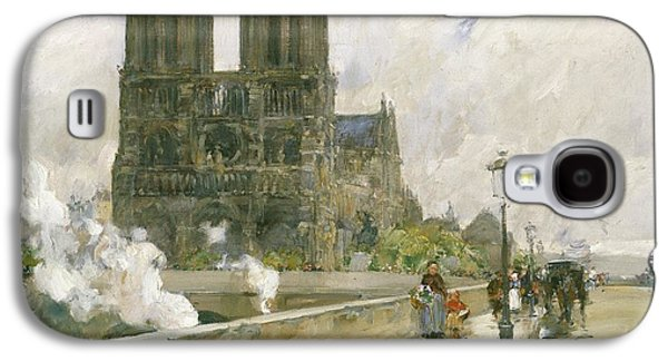 Notre Dame Cathedral - Paris Galaxy S4 Case by Childe Hassam