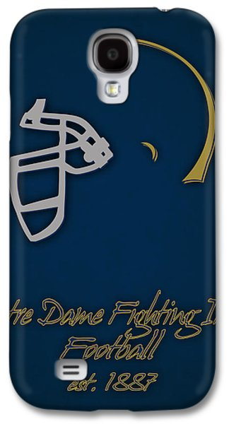 Notre Dame Fighting Irish Helmet Galaxy S4 Case by Joe Hamilton
