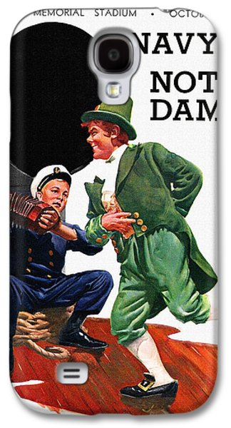 Notre Dame V Navy 1954 Vintage Program Galaxy S4 Case