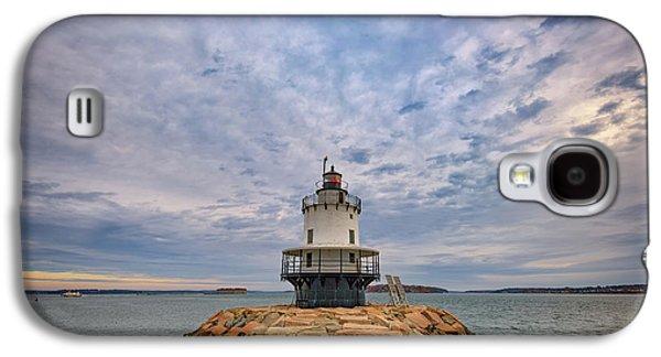 November Morn At Spring Point Ledge Light Station Galaxy S4 Case by Rick Berk