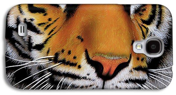 November Tiger Galaxy S4 Case by Jurek Zamoyski