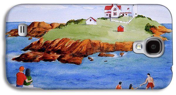 Nubble Light Family Day Galaxy S4 Case by Clifford Gleason