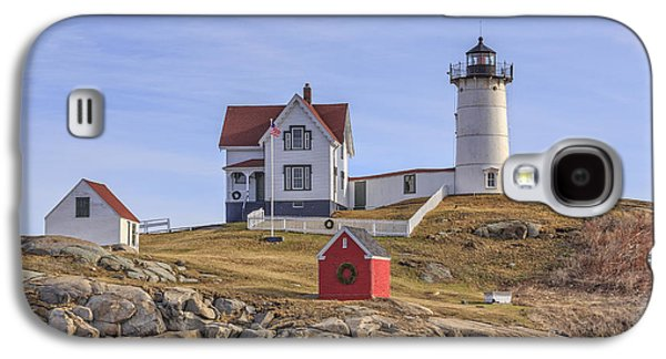 Nubble Lighthouse York Maine Galaxy S4 Case by Edward Fielding