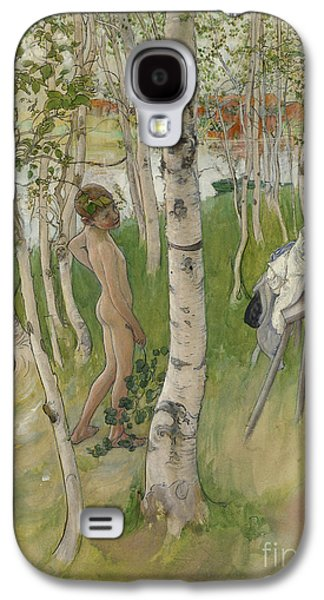 Nude Boy Among Birches Galaxy S4 Case by Carl Larsson