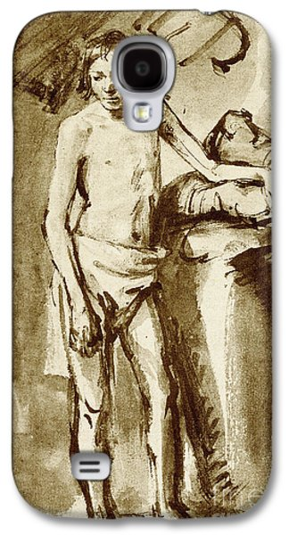 Nude Drawing For A Youth Galaxy S4 Case