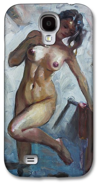 Nude In Shower Galaxy S4 Case by Ylli Haruni