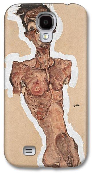 Nude Self-portrait Galaxy S4 Case by Egon Schiele