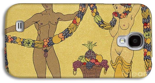 Nudes  Illustration From Les Chansons De Bilitis Galaxy S4 Case by Georges Barbier