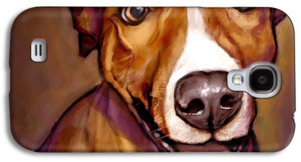 Dogs Digital Art Galaxy S4 Cases - Number One Fan Galaxy S4 Case by Sean ODaniels