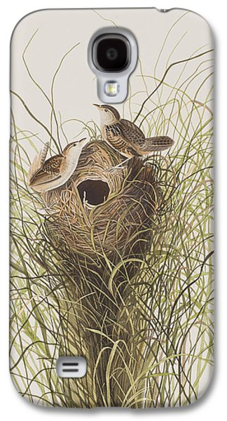 Wren Galaxy S4 Case - Nuttall's Lesser-marsh Wren  by John James Audubon
