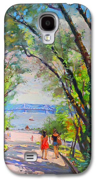 Girl Galaxy S4 Cases - Nyack Park a Beautiful Day for a Walk Galaxy S4 Case by Ylli Haruni