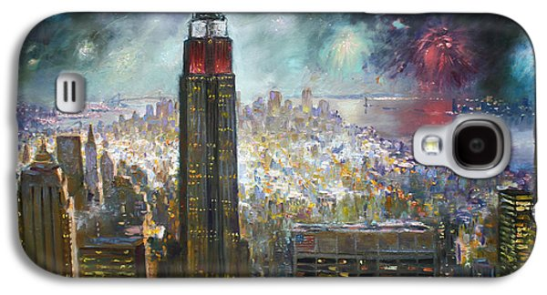 Nyc. Empire State Building Galaxy S4 Case by Ylli Haruni
