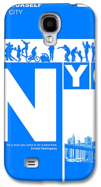 Nyc Find Yourself In The City Galaxy S4 Case by Naxart Studio