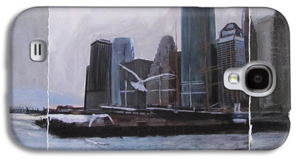 Nyc Mixed Media Galaxy S4 Cases - NYC Pier 11 layered Galaxy S4 Case by Anita Burgermeister