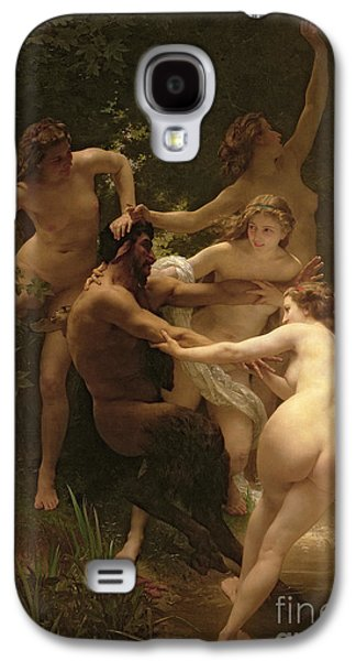 Nymphs And Satyr Galaxy S4 Case by William Adolphe Bouguereau