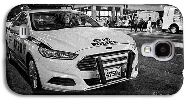 nypd police patrol car at night New York City USA Galaxy S4 Case