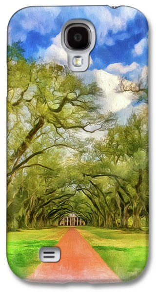 Oak Alley 7 - Paint Vignette Galaxy S4 Case by Steve Harrington