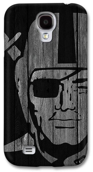 Oakland Raiders Wood Fence Galaxy S4 Case