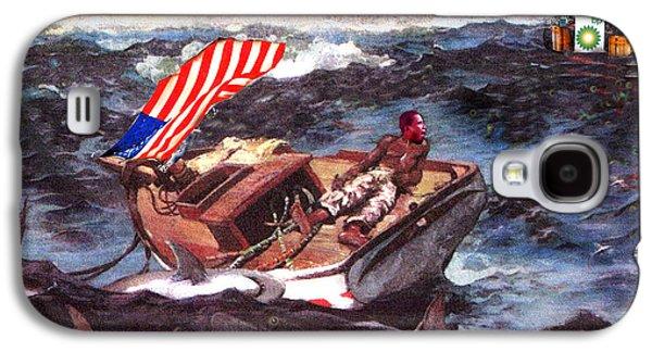 Obama At Sea Galaxy S4 Case by Seth Weaver