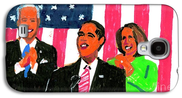 Obama's State Of The Union '10 Galaxy S4 Case by Candace Lovely