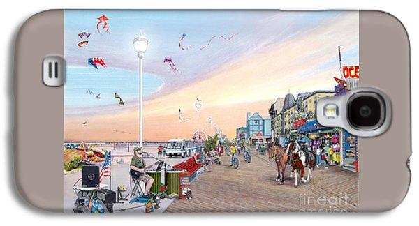 City Sunset Galaxy S4 Case - Ocean City Maryland by Albert Puskaric