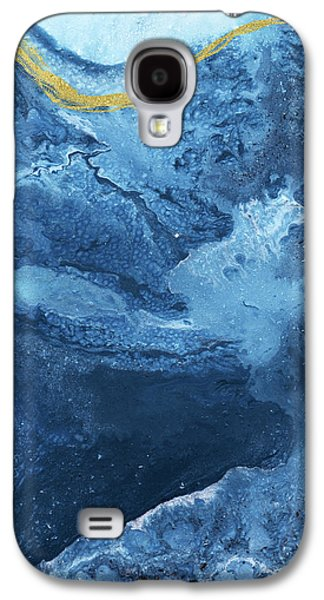 Ocean Gold- Abstract Art By Linda Woods Galaxy S4 Case