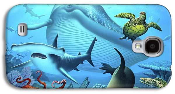 Sharks Galaxy S4 Case - Ocean Life by Jerry LoFaro