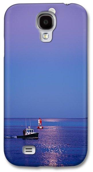 Maine Photographs Galaxy S4 Cases - Ocean Moonrise Galaxy S4 Case by Steve Gadomski