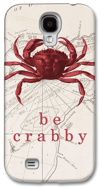 Ocean Quotes Be Crabby Print Galaxy S4 Case by Erin Cadigan