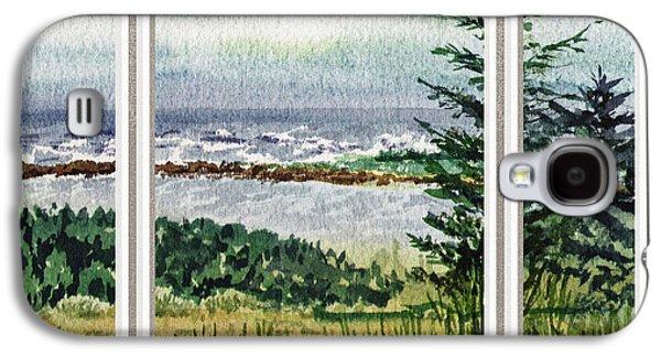 Ocean Shore Window View Galaxy S4 Case