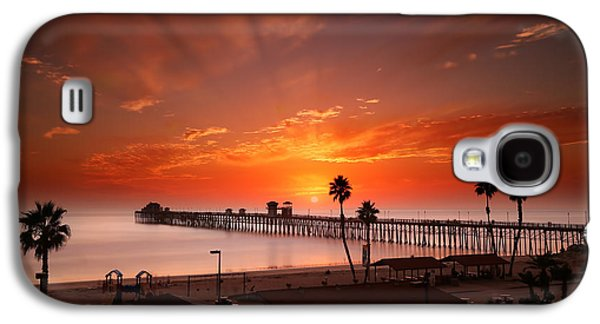 Oceanside Sunset 9 Galaxy S4 Case by Larry Marshall