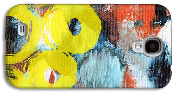 October- Abstract Art By Linda Woods Galaxy S4 Case by Linda Woods