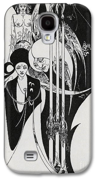 Of A Neophyte And How The Black Art Was Revealed Unto Him Galaxy S4 Case by Aubrey Beardsley