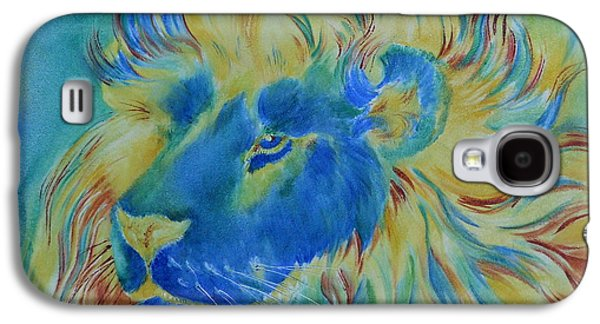 Of Another Color Blue Lion Galaxy S4 Case by Summer Celeste
