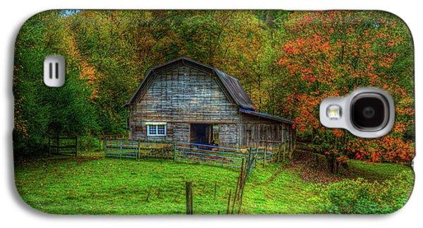 Office In The Barn Gambrel Barn Art Galaxy S4 Case by Reid Callaway