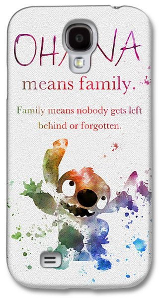 Ohana Means Family Galaxy S4 Case by Rebecca Jenkins