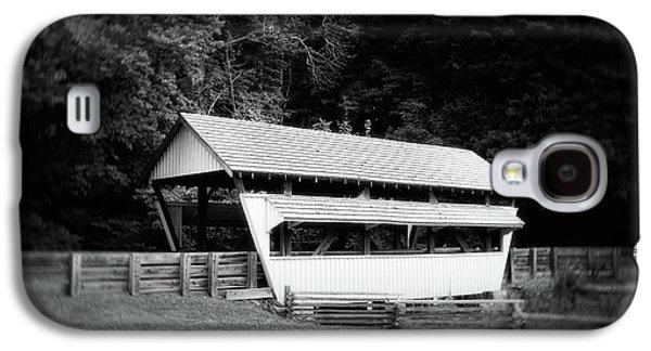 Ohio Covered Bridge In Black And White Galaxy S4 Case by Tom Mc Nemar