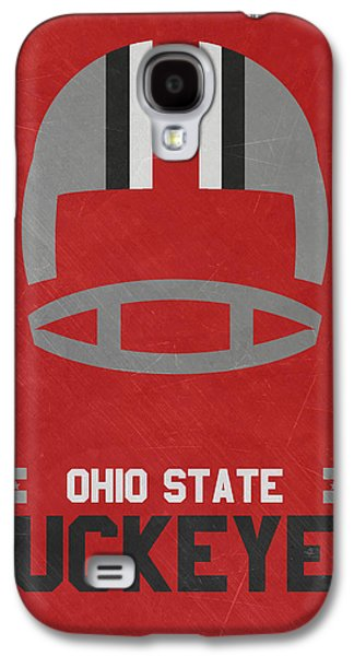Ohio State Buckeyes Vintage Football Art Galaxy S4 Case by Joe Hamilton