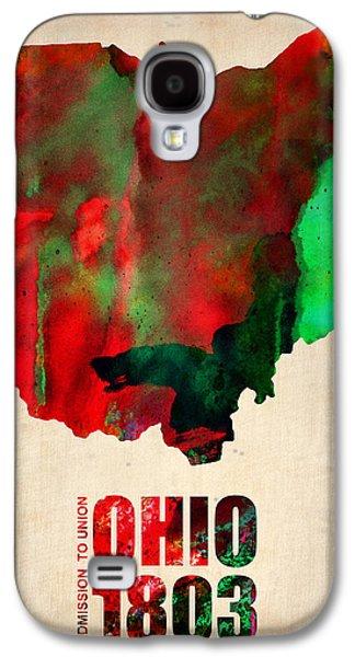 Ohio Watercolor Map Galaxy S4 Case by Naxart Studio
