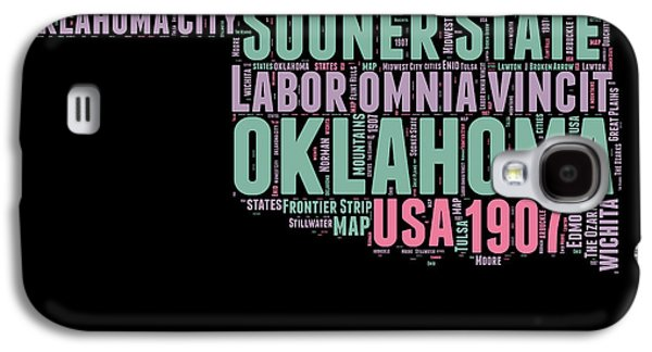 Oklahoma Word Cloud 1 Galaxy S4 Case by Naxart Studio