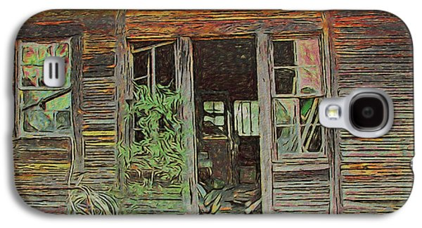 Old Abandoned House - Ghost Dogs Trotting Galaxy S4 Case